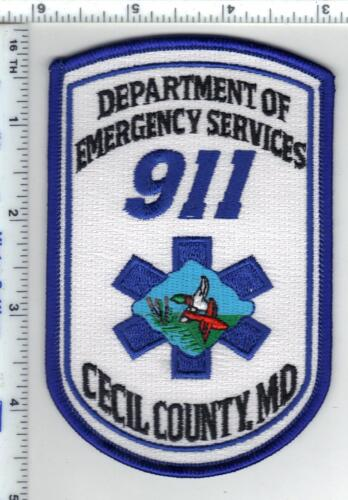 Cecil County (Maryland) Dept of Emergency Services 911 Shoulder Patch - 1980