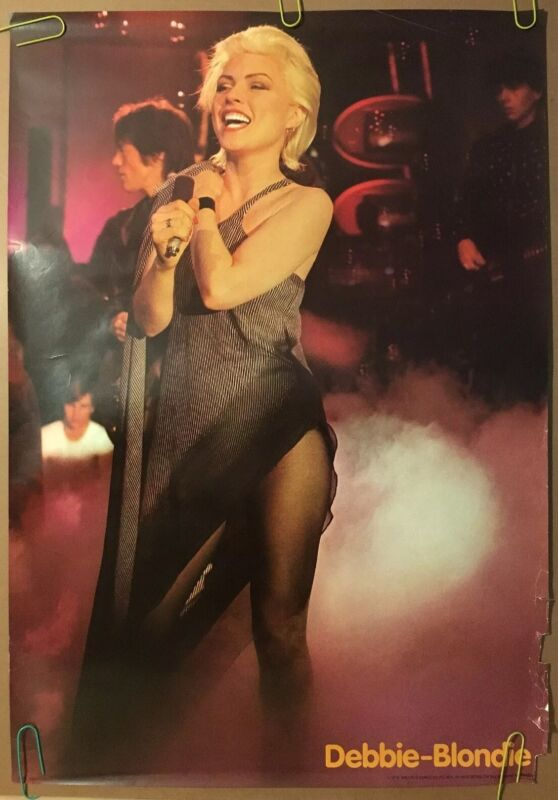 Original Vintage Poster 1979 Debbie Harry 70s Blondie Concert Photography Pin-up