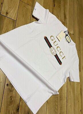 Men's Gucci T Shirt White Size XL Extra Large RRP £340 Unisex