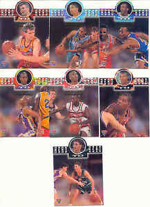 1995 FUTERA NBL HEAD TO HEAD DIECUT full set 7 INSERTS H2H 1 UP TO H2H 7