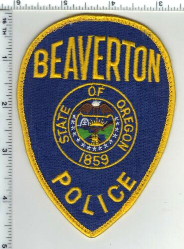 Beaverton Police (Oklahoma) Uniform Take-Off Shoulder Patch from the 1980