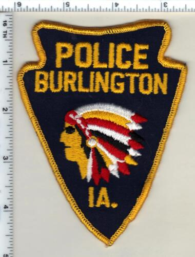 Burlington Police (Iowa) Uniform Take-off Shoulder Patch from 1990