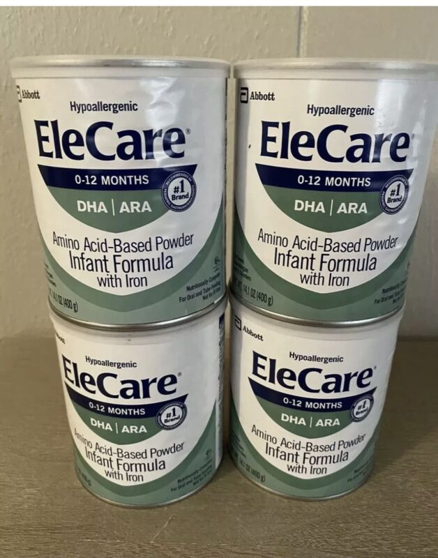 Elecare Infant Formula— FOUR CANS—FAST, FREE SHIPPING!