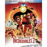 INCREDIBLES 2(BLU-RAY+DVD+DIGITAL)W/SLIPCOVER NEW UNOPENED