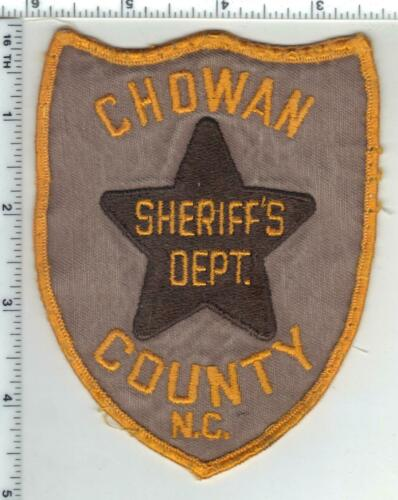 Chowan County Sheriff (North Carolina) 1st Issue Uniform Take-Off Shoulder Patch