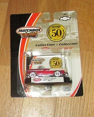 2001 Matchbox 50th Anniversary 1955 Chevrolet Bel Air RR tires