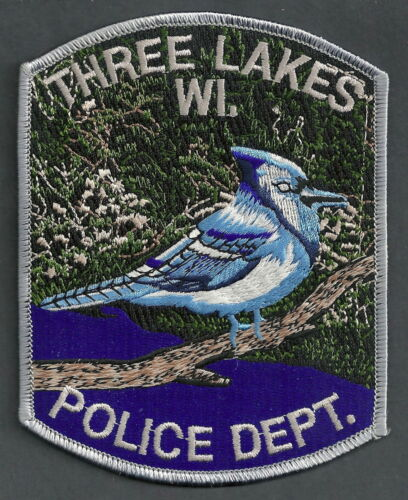 THREE LAKES WISCONSIN POLICE SHOULDER PATCH
