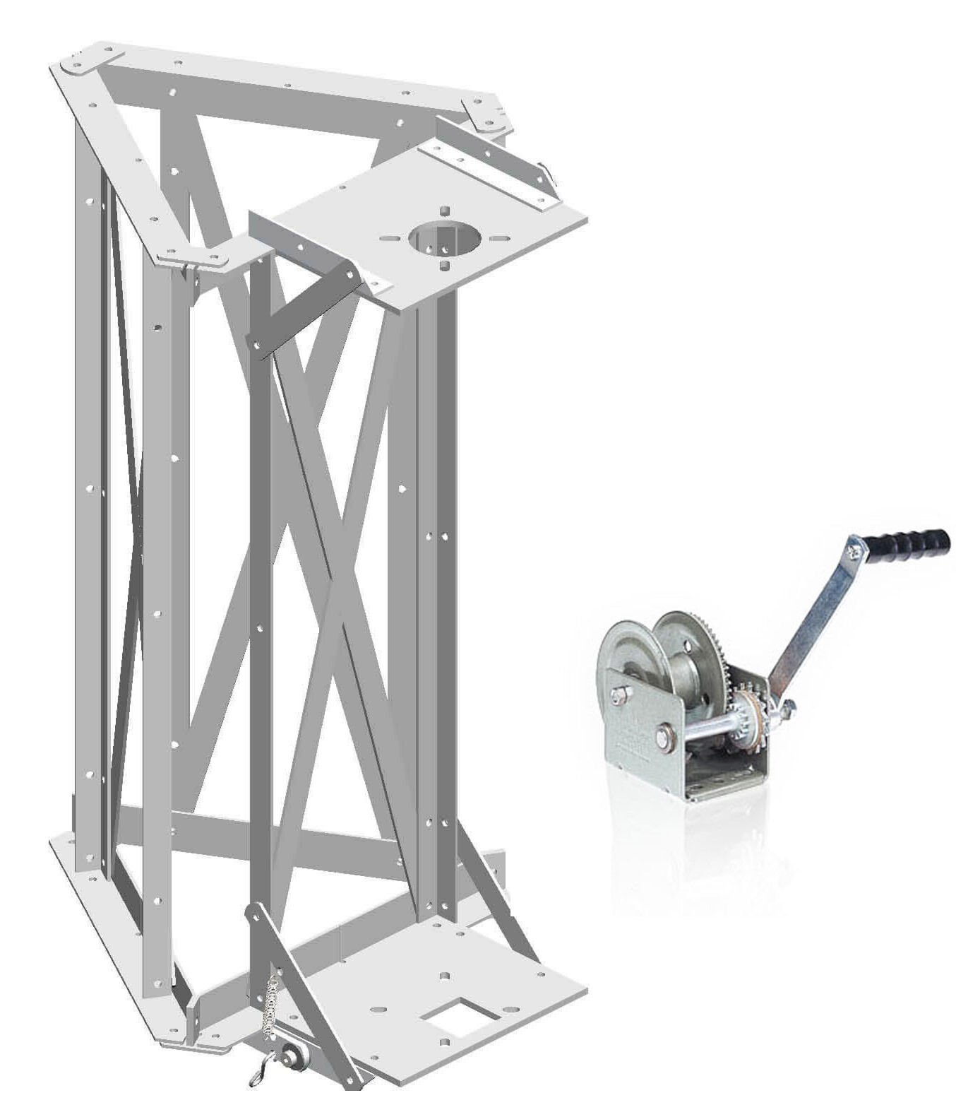 Glen Martin H-3 Hazer Tram System with Upgraded Brake Winch - for ROHN Towers . Buy it now for 541.00