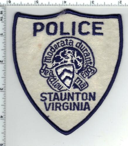 Staunton Police (Virginia) FELT Shoulder Patch from the 1970