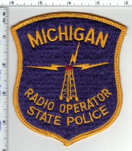 State Police (Michigan) Radio Operator Uniform Take-Off Shoulder Patch 1980