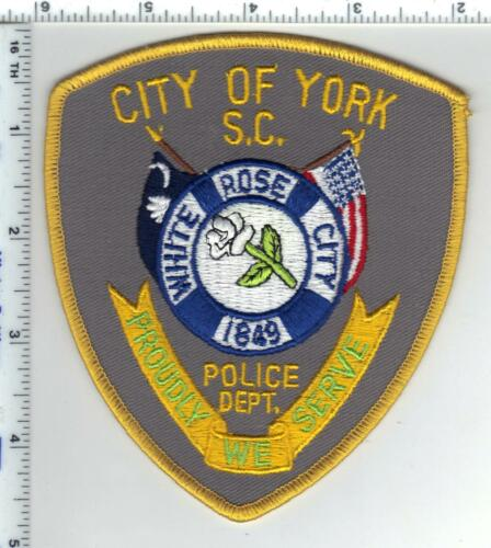 City of York Police (South Carolina) Shoulder Patch from the 1980