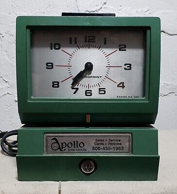 Vintage Acroprint 125nr4 Time Recorder Manual Punch Card Clock - No Key