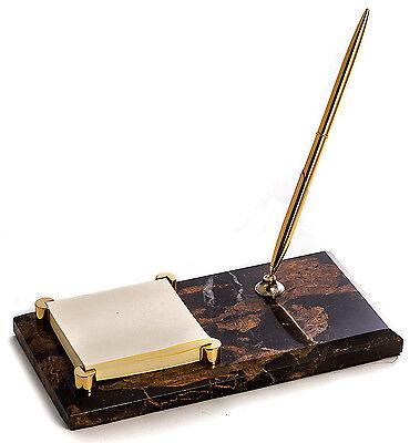 Desk Accessories - Marble Pen Stand Memo Holder
