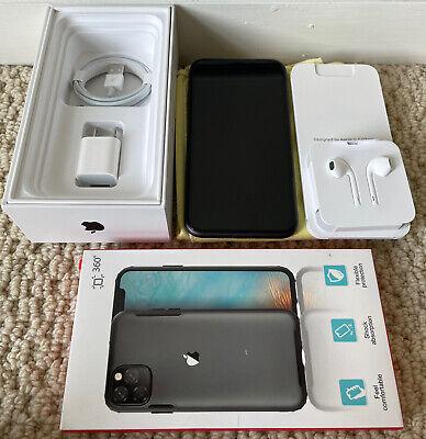 Apple iPhone 11, 128GB, Black(Unlocked) A2111 (CDMA+GSM), Box & accessories