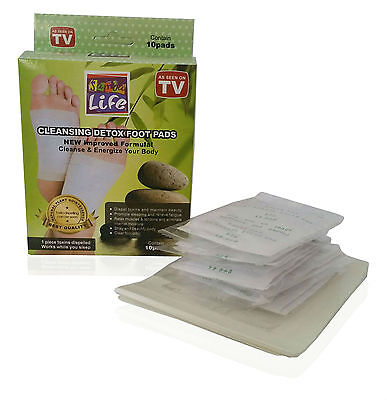 4 boxes=40 pcs Herbal Detox Foot Pads Detoxification Cleansing Patches Kinoki