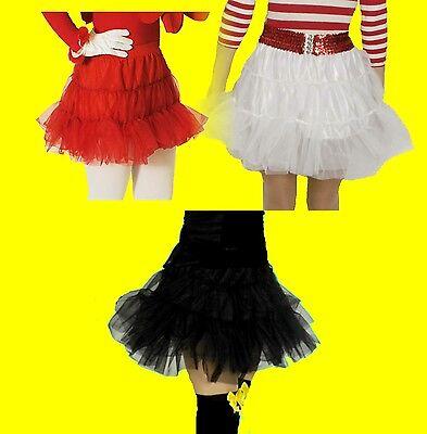 Damen Mädchen PETTICOAT zB Kostüm 50er 60er Jahre Rock Tüllrock Rockabilly NEU   (50 Mädchen Kostüm)