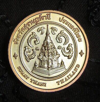 Thailand Surat Thani Province Medal Coin Amulet Phra Borom That Chaiya Thai