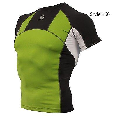 166 Green w/Grey Short Sleeve Shirt