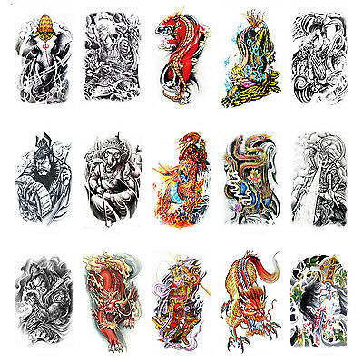 Large Sexy Temporary Tattoo Body Arm Stickers Skull Removable Waterproof Sticker on Rummage