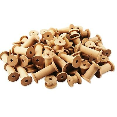 Creation Station Wooden Spools Assorted Sizes Natural Pack of 60