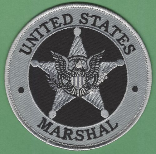 """UNITED STATES MARSHAL SERVICE SEAL 4"""" GRAY SHOULDER PATCH"""