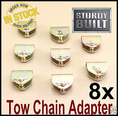 8x Chain Adapter G70 Tow Chain Ratchet Tie Down Straps FlatBed Truck Car Axle 2