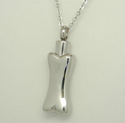 Bone Cremation Urn Necklace Bone Urn Pet Urn Engravable Cremation Jewelry
