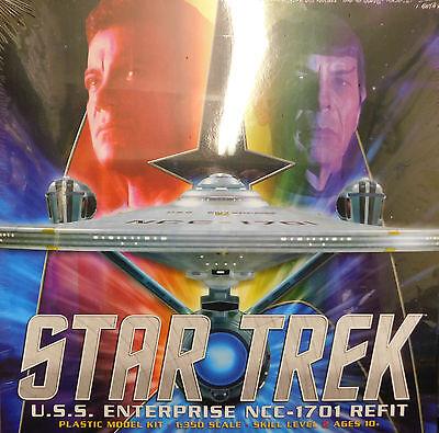 """Polar Lights 1/350 Star Trek USS Enterprise REFIT Plastic Model Kit 34"""" Long 949"""