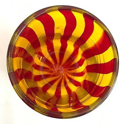 Design Glas Vase signiert Kunstglas Murano? Scandinavien? 70er 70s