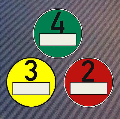 Haftfolie für Feinstaubplakette Umweltplakette Vignette Durchmesser 84mm