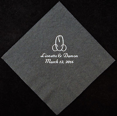 175 Monogram luncheon dinner napkins wedding napkins birthday anniversary favors - Monogrammed Wedding Napkins