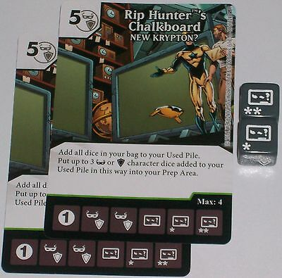 2 x RIP HUNTER'S CHALKBOARD: NEW KRYPTON? 71 Green Arrow The Flash Dice Masters](Cheap Chalkboards)