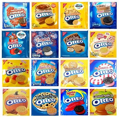 NABISCO OREO Cookies Limited Edition & Special Flavors Variety Flavors  - Nabisco Oreo Cookies