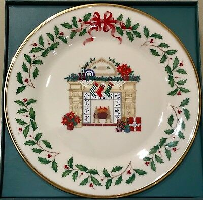 Lenox Annual Holiday Collectors Plate 1993 Fireplace Excellent 3Rd In Series