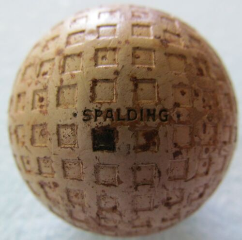 VINTAGE OLD SQUARE MESH GOLF BALL WITH MULTI-MARKING-SPALDING KRO-FLITE