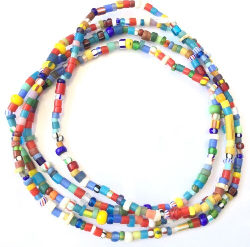 Antique African Christmas Mixed Beads African Trade Beads-Ghana