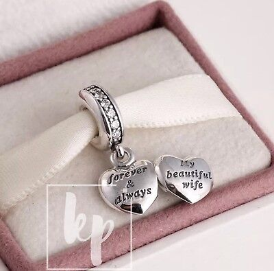 Pandora My Beautiful Wife Pendant Charm S925 ALE 791524CZ (With Pouch)