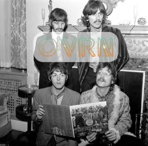 Unseen BEATLES Photo Sgt Pepper Press Event FINE ART ARCHIVAL Print fr NEGATIVE
