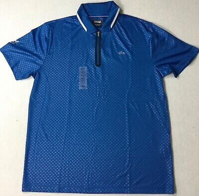 Lacoste Men Sport Embossed Laser Polo DH7437 Blue Size 6/L