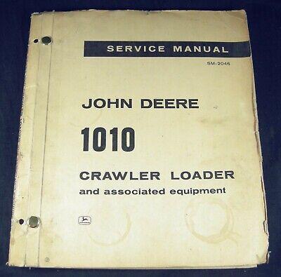 John Deere 1010 Service Repair And Parts Manual Crawler Loader Tractor Jd Oem