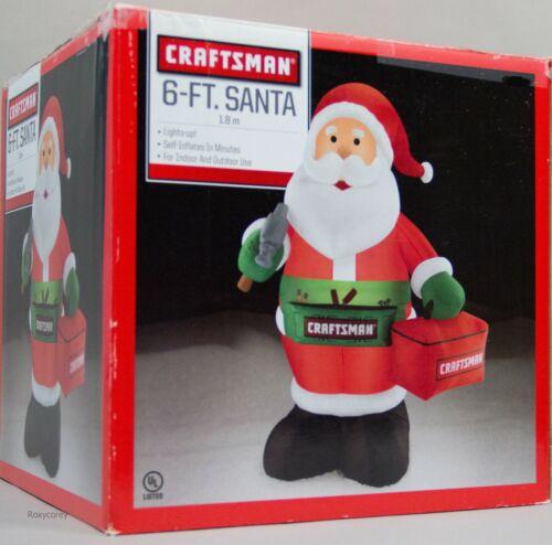 Christmas Gemmy 6 ft Lighted Craftsman Santa Claus Airblown Inflatable NIB