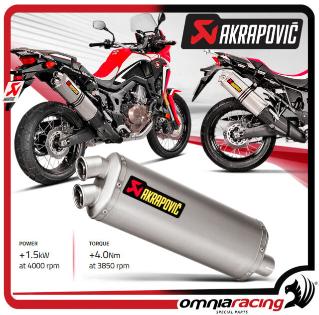 Exhaust tube Akrapovic Titanium Approved Honda CRF 1000 Africa Twin