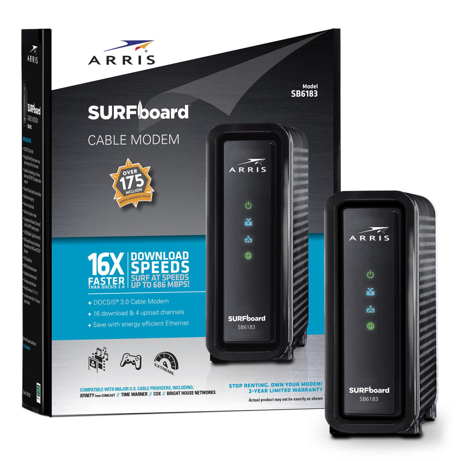 Arris - Surfboard 600 Series Docsis 3.0 Cable Modem - White