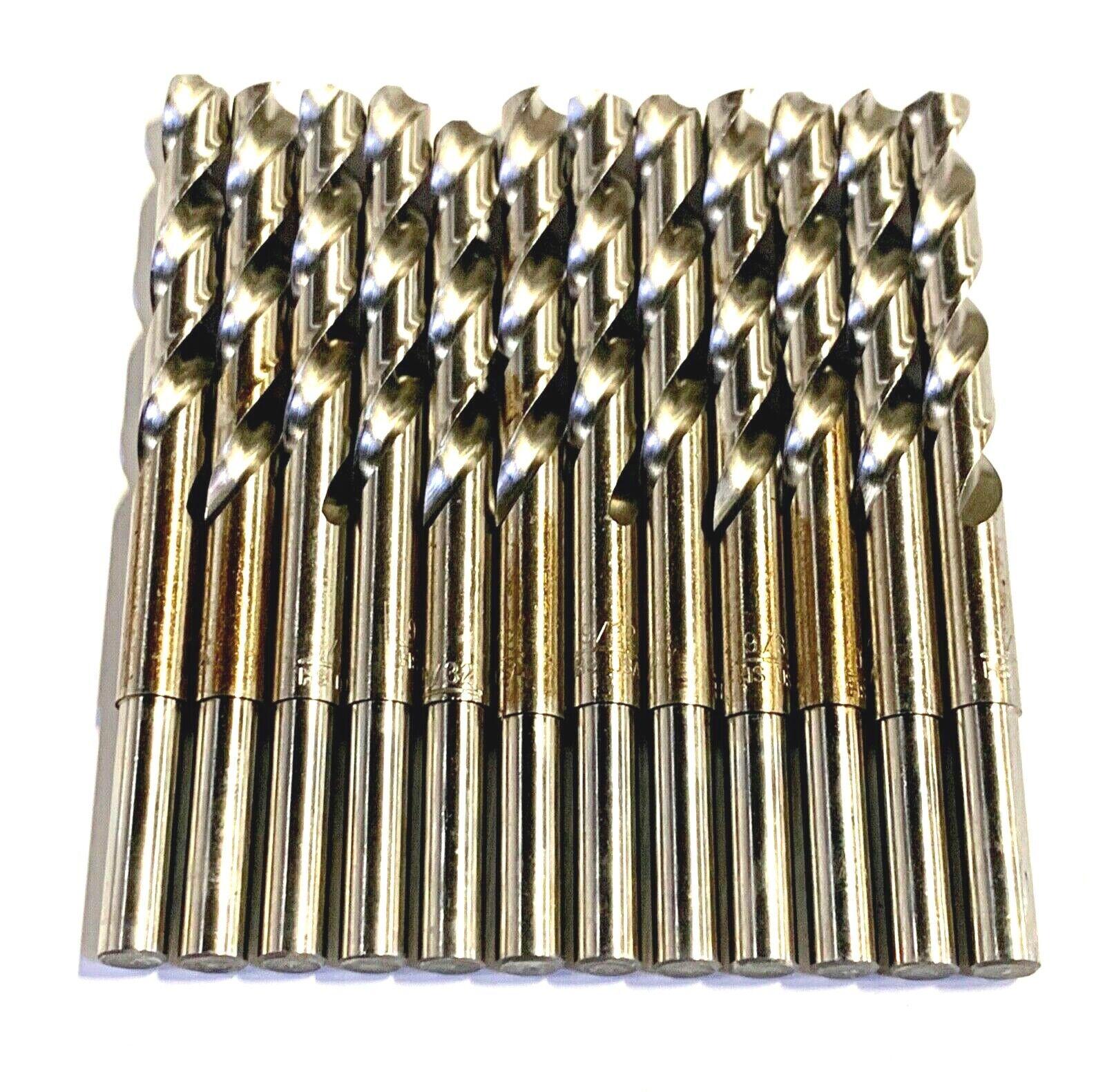 """9/32"""" Drill Bit HSS 1/4"""" Reduced Shank Drills Metal Cutting"""