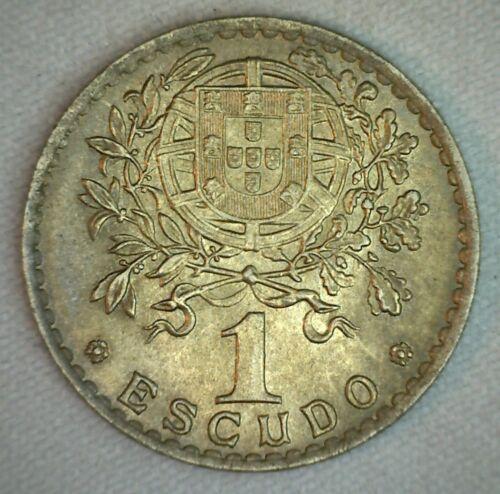 1952 Portugal 1 Escudo Coin Copper Nickel Uncirculated