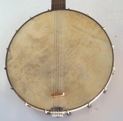 Antique Waverly Tailpiece Vintage Tenor Banjo 18 Fret 4 String