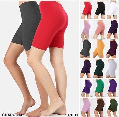 BIKER SHORT Yoga Gym Cotton SPANDEX 1 or 3 Active Wear Leggings Plus Size S-3XL