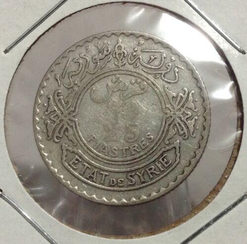 1929 SYRIA 25 Piastres Silver coin