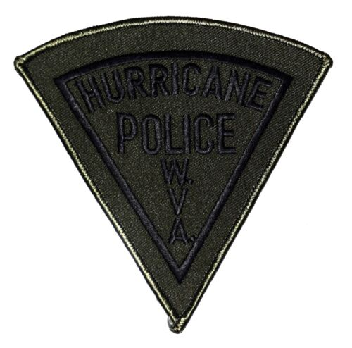 HURRICANE – SEAT – WEST VIRGINIA WV Police Sheriff Patch SUBDUED PIE SHAPE `