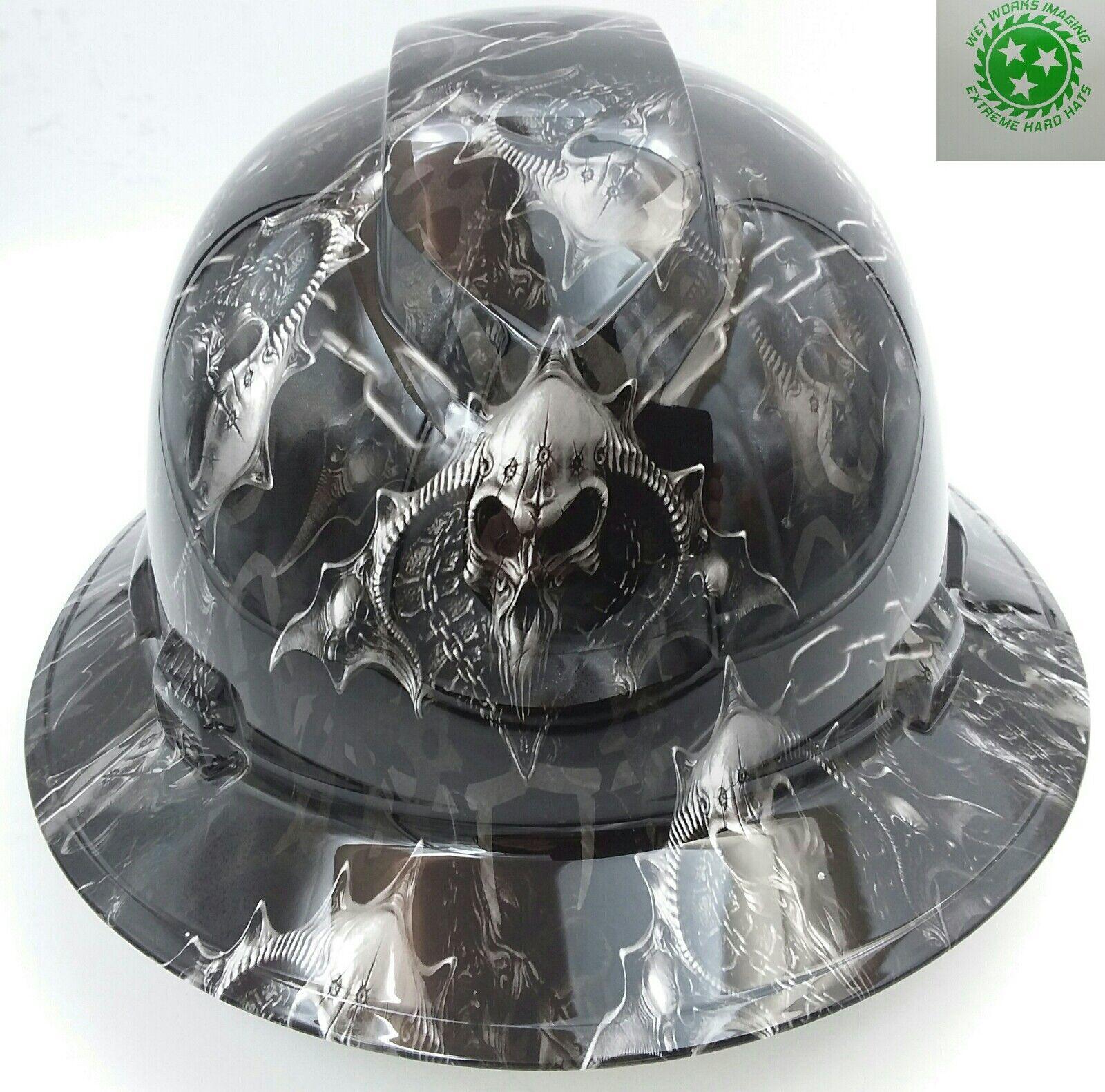 Hard Hat custom hydro dipped , OSHA approved HELL RAISER SKULLS !!!NEW!!!!